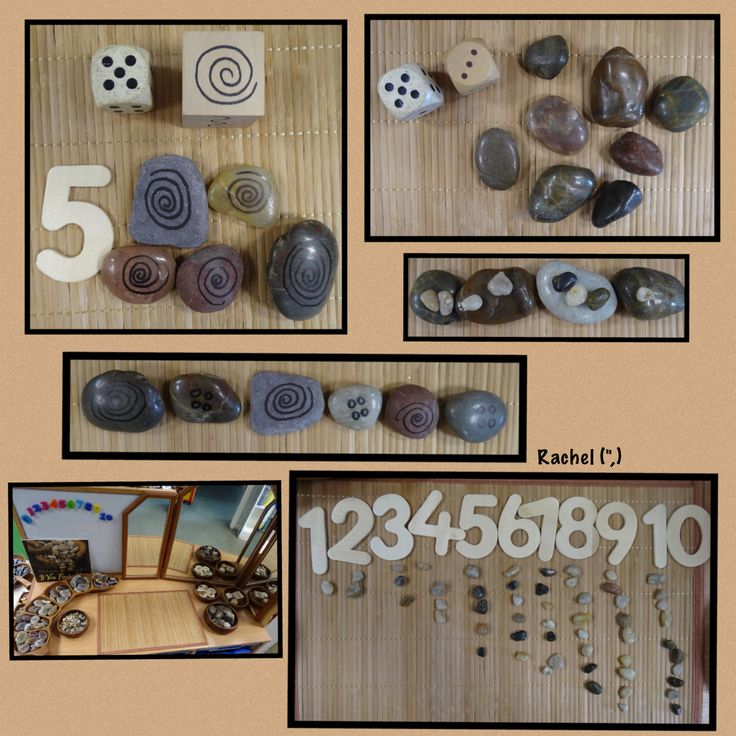 "Stones, patterns and number from Rachel ("",)"