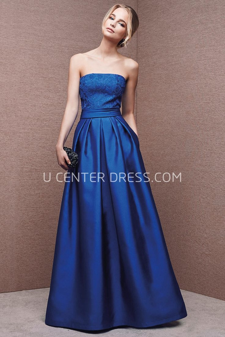 $145.19-Classy Strapless Appliqued Sleeveless Satin Blue Evening Gown. http://www.ucenterdress.com/a-line-strapless-appliqued-satin-prom-dress-pMK_301601.html. Shop for affordable evening gowns, prom dresses, white dresses, party dresses for women, little black dresses, long dresses, casual dresses, designer dresses, occasion dresses, formal gowns, cocktail dresses . We have great 2016 Evening Gowns on sale now. #evening #gowns