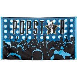 Gevelvlag Popstars -  Een gevelvlag bedrukt in Popstars stijl. Afmeting: 90 x 150cm.   www.feestartikelen.nl