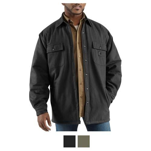 Carhartt Chore Flannel Work Shirt Jacket Quilt Lined