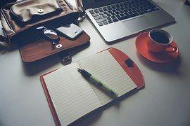 Laptop, Iphone, Café, Notebook, Caneta