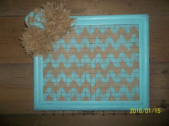 Upcycled Picture Frame Jewelry Organizer by Prinilla on Etsy