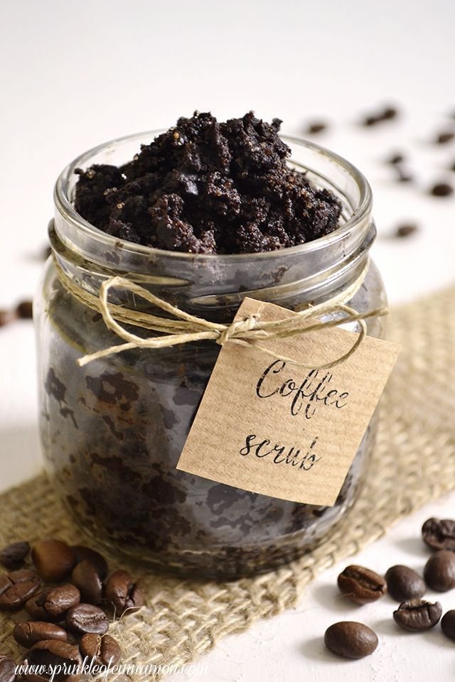 Coffee scrub | Caffeine tightens and exfoliates the skin it is also full of antioxidants ..