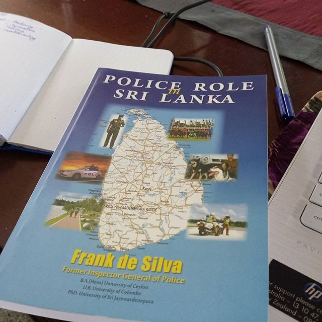 Working on the new book for @ksp_writers_centre and @varunawritershouse Foundation Fellowship and thought this would be a good book to pick up for research. Have no idea yet if it will be any good or not. I am looking for something that gives me a good idea of how the police work in Sri Lanka.  If you know of any other books that wouls be good for research let me know. #srilankanauthors #srilankanwriters  I talked a bit today about what I have done this week for the #foundationfellowship and…