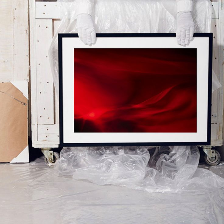 Minimal photography print of moving red silk, home decor detail by UgnePouwell…
