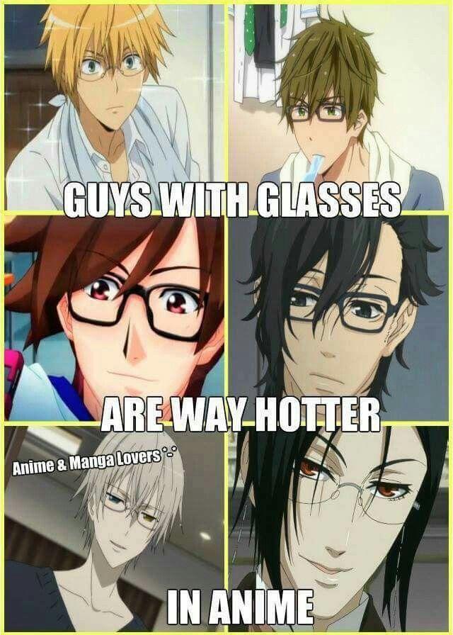 Glasses   Anime life, Anime memes funny, Otaku anime