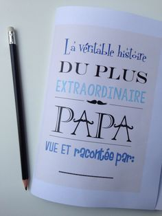 {Free} Un book pour les papas à imprimer et à compléter! |