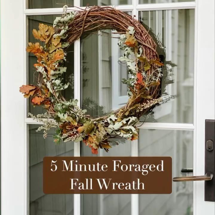 Easy Fall Wreaths, Autumn Wreaths For Front Door, Diy Fall Wreath, Holiday Wreaths, How To Make Wreaths, Twig Wreath, Wreath Crafts, Dried Flower Wreaths, Dried Flowers