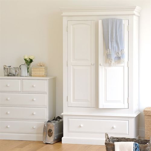 Burford Painted Double Wardrobe with Drawer (J304) with Free Delivery | The Cotswold Company - DKW45 KD £475