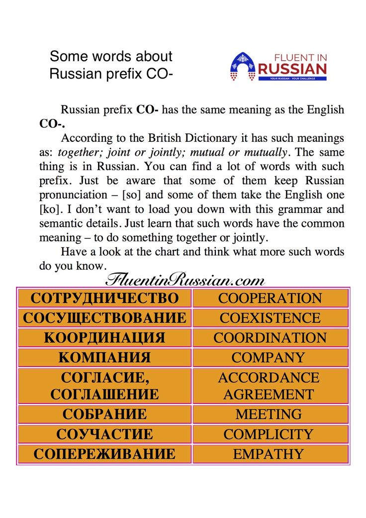What do you know about prefixes and loans? | Russian courses: learn Russian online