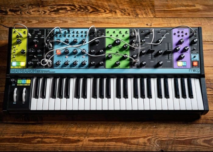 Moog Matriarch Semi Modular Analog Synthesizer Launches For 1 999 Geeky Gadgets Analog Synth Synthesizer Moog Synthesizer