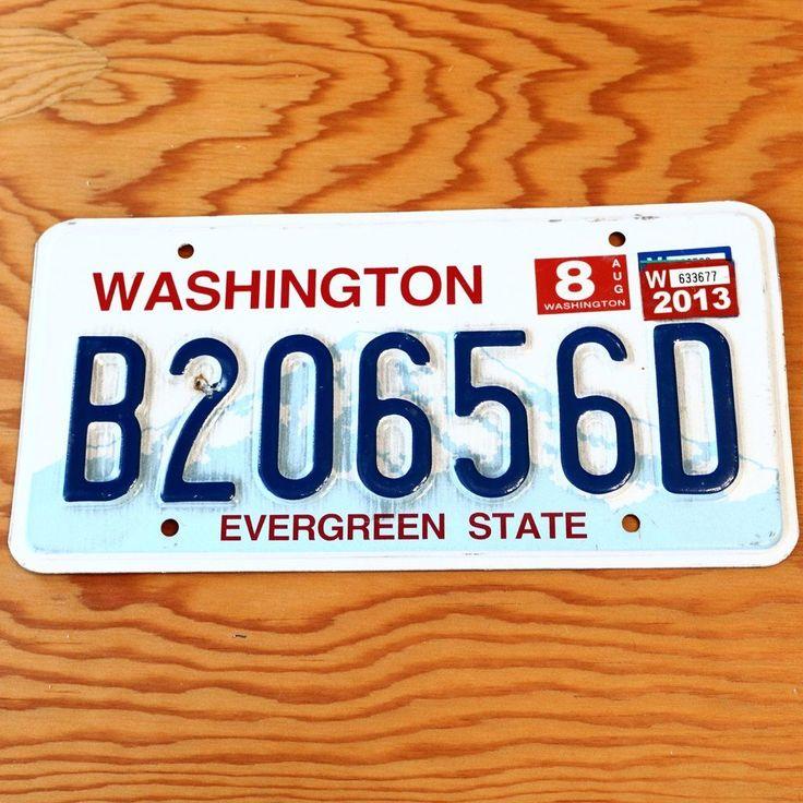 2013 Washington Evergreen License Plate B20656D License