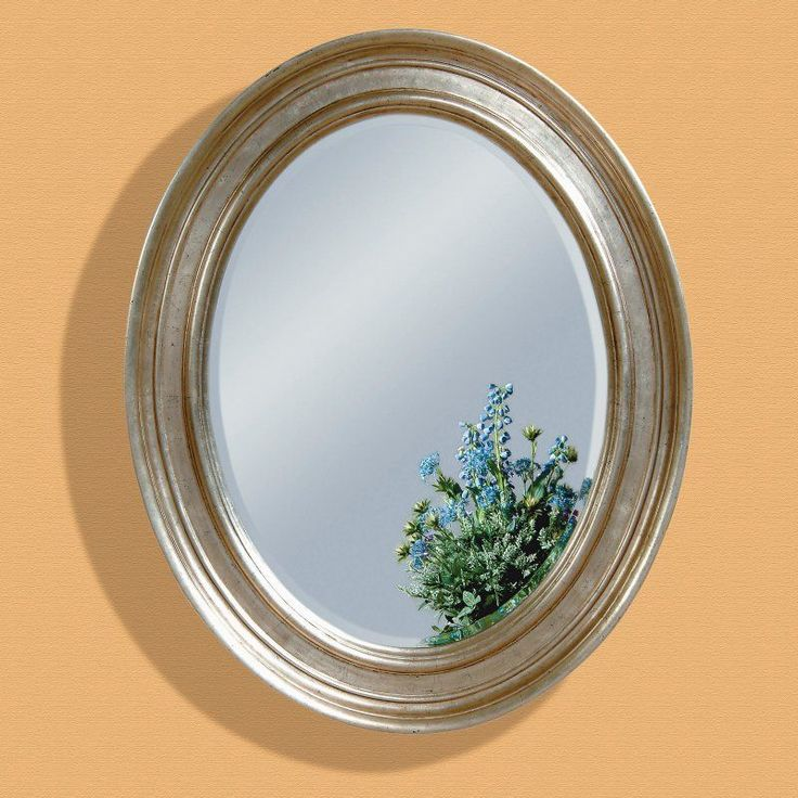 Silver Leaf Oval Oversized Wall Mirror - 33W x 41H in. - M1961BEC
