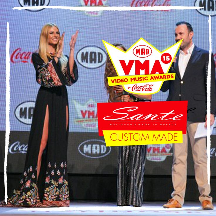 Evelyn Kazantzoglou in SANTE Custom Made at Mad Video Music Awards 2015 #‎madvma15‬ by ‪#‎cocacola‬ #SanteCustom