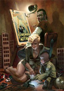 cyberpunk illustration