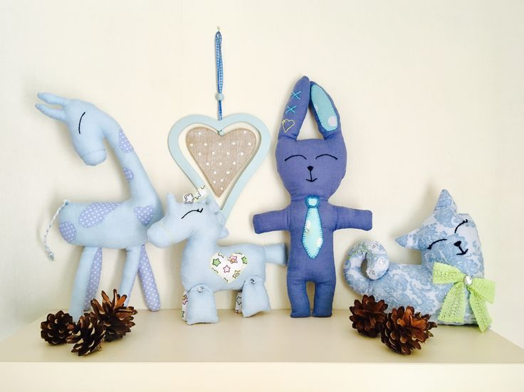 Nursery decor in blue color baby shower gifts