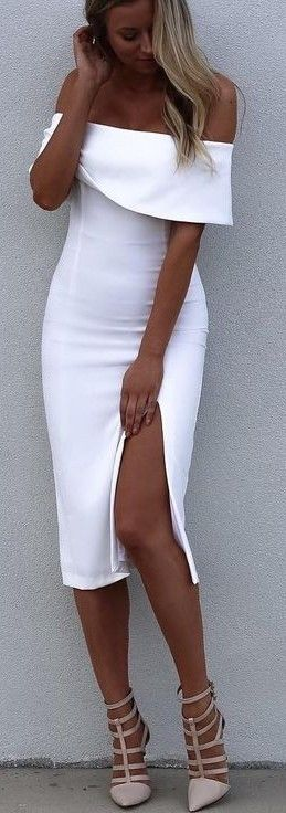 #fall #kookai #australia #outfits |  Midi White Dress