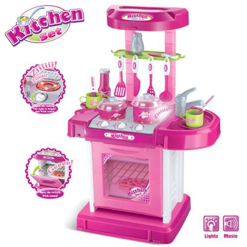 Portable Kitchen Appliance Oven Cooking Play Set 26