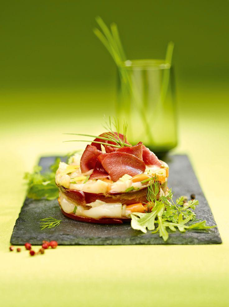 Le charme du tartare de #magret séché et la douceur de la #StJacques pour une explosivité de #saveurs. #Recette et #astuces de nos #chefs sur www.feyel.com