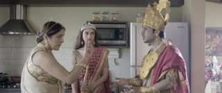 Image copyright                  Bollywood Aajkal Image caption                                      Arjun brings his new wife Draupadi home to introduce to his mother Kunti                                Mama's Boys, a short YouTube film based on Draupadi's polygamous marriage to five Pandava brothers from the ancient Hindu epic Mahabharat, is a hit with online audiences in India, but has angered some hardline Hindus, writes the BB