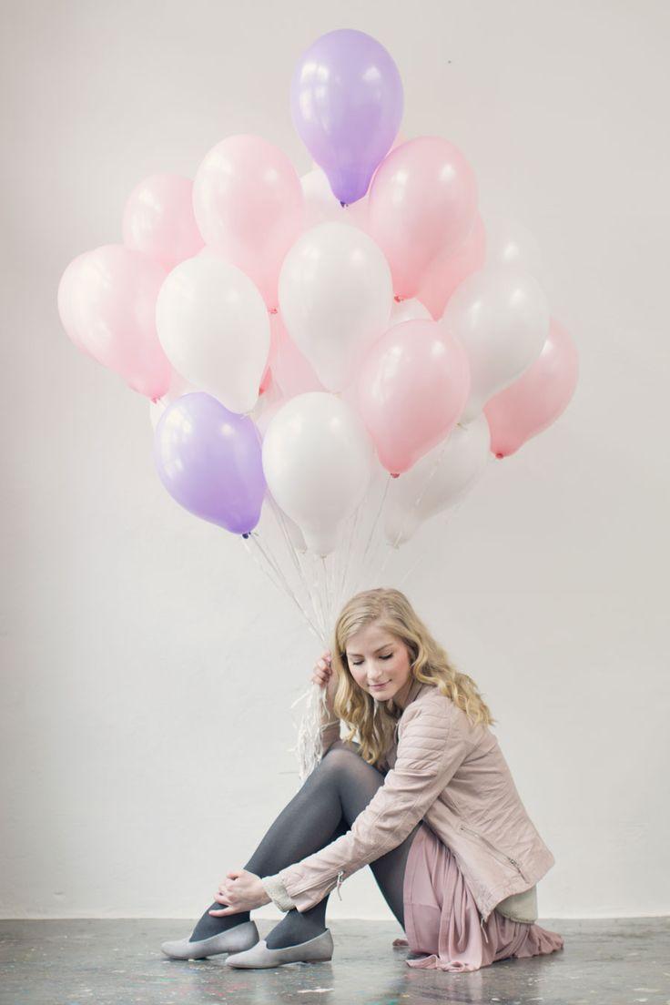 как красиво сфотографироваться с воздушными шарами давнем