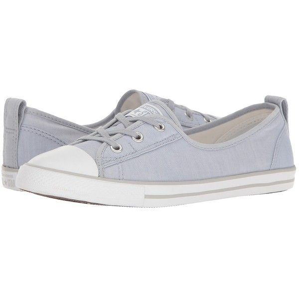 Converse Chuck Taylor All Star Ballet Lace Slip-On (Blue... ($60) ❤ liked on Polyvore featuring shoes, flats, slip on shoes, blue shoes, blue ballerina flats, slip-on shoes and white ballet shoes