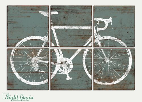 Custom Made Vintage Road Bike Bicycle Sign Wall Art Print Decor RightGrain