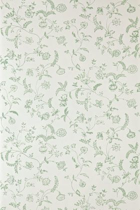 An 18th century design from the bedrooms at Uppark House. With delicate catkins, wispy vines, and blossoming floral motifs, Uppark is graceful, captivating and elegant. Full roll width is 53cm/21