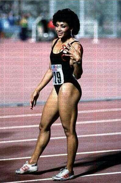 #FloJo #Olympics  Florence Delorez Griffith Joyner (December 21, 1959 – September 21, 1998), also known as Flo-Jo, was an American track and field athlete. She is considered the fastest woman of all time based on the fact that the world records she set in 1988 for both the 100 m and 200 m still stand and have yet to be seriously challenged. She died in her sleep as the result of an epileptic seizure in 1998 at the age of 38. #BlackHistoryMonth