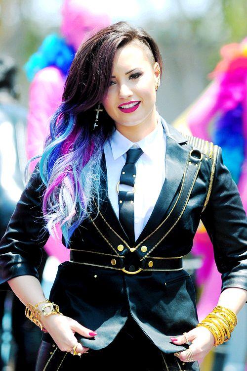"Demi Lovato in the ""Really Don't Care"" Music Video. Featuring Cher Lloyd, her boyfriend and Perez Hilton."