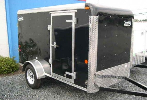 Enclosed Motorcycle Shelter : Carmate 'sportster enclosed cargo trailer ramp