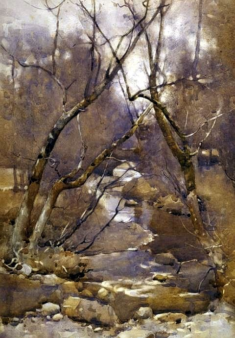 A Galloway Landscape (1891) Watercolour on paper James Paterson (1854-1932) [Scottish landscape painter] Fall landscape