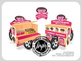 Desain Logo | Logo Kuliner |  Desain Gerobak | Jasa Desain dan Produksi Gerobak | Branding: Desain Gerobak Motor Sate Babi Iga Bakar