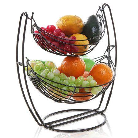 Metal Fruit Basket Double Hammock