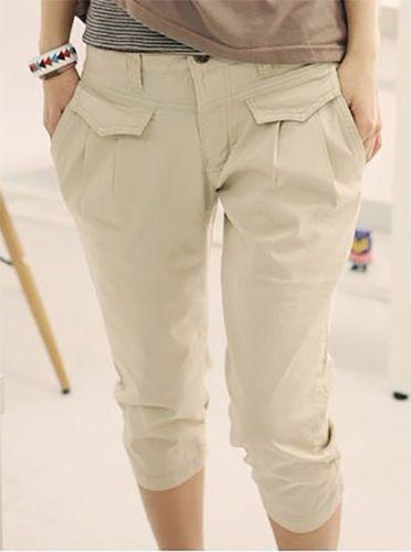 pantalone donna moda estate casual cotone pinocchietto capri al polpaccio