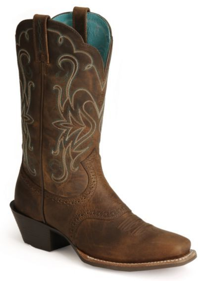 ✰ Ariat Saddle Vamp Legend Riding Cowgirl Boots - Square Toe - Sheplers