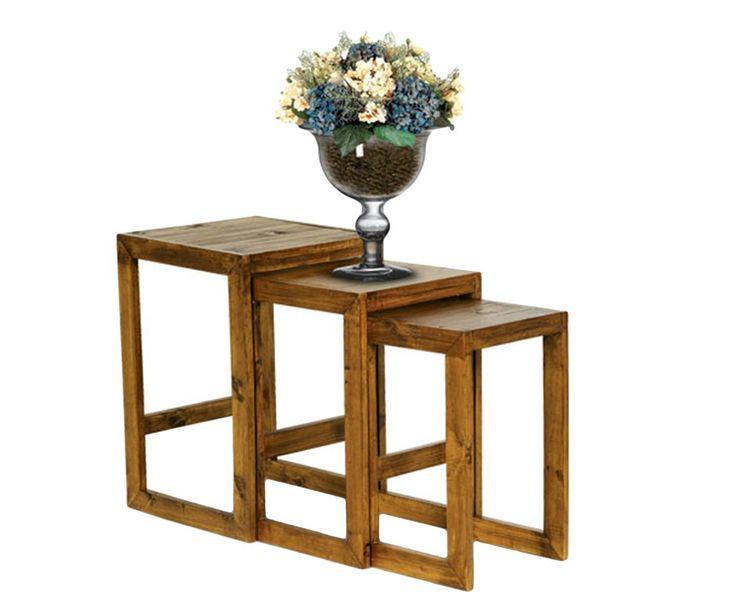 conjunto de mesas auxiliares trio