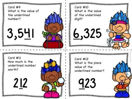 Trolls!  Place Value to 9,999  SCOOT/Task cards!  So fun and the kids love them!  Grades 2-4