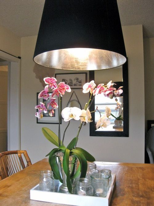 diy project: silver-leafed lampshade