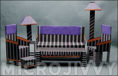 Paper Dollhouse Furniture (Free Pattern and Picture Heavy) - PAPER CRAFTS, SCRAPBOOKING & ATCs (ARTIST TRADING CARDS)