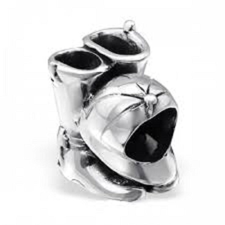 Horse Riding Boots And Riding Hat Bead Charm in 925 Stamped Sterling Silver >>> Check out this great article. #Charms