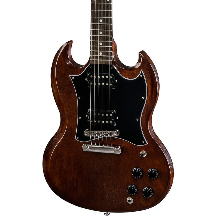 guitares electriques gibson sg special faded 2016 hp satin ebony + housse double cut