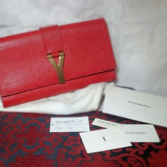 yves saint laurent wallet sale - YSL Chyc Clutch Brand new condition! Comes with authenticity card ...