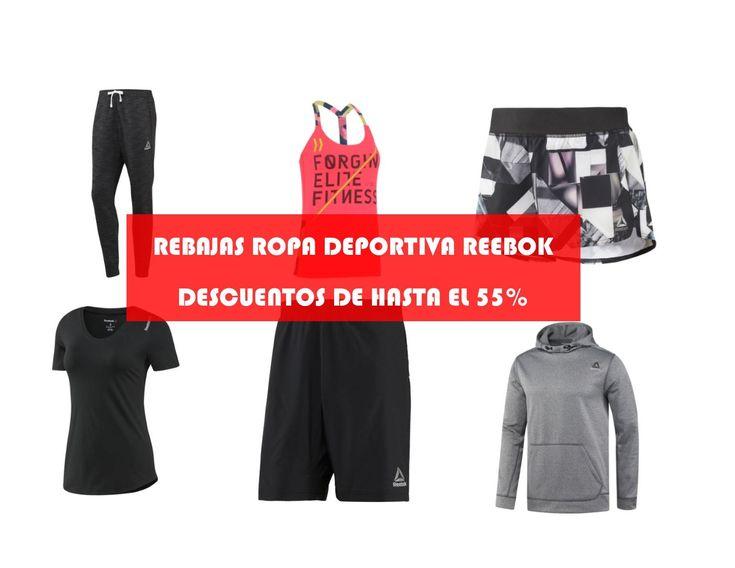 Rebajas ropa deportiva Reebok. Descuentos de hasta el 55%
