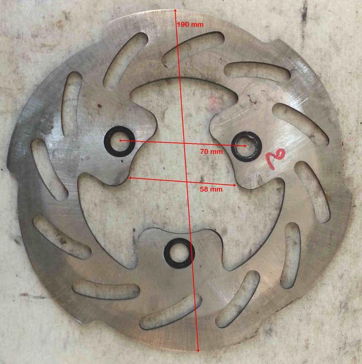 DISCO FRENO D.est.190 D.int.58 sp.3,7 mm distanza viti 70 mm  MARGHERITA