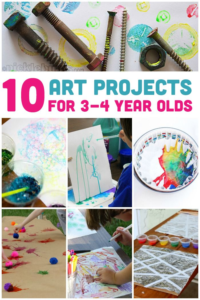 10 Awesome Art Projects For 3 4 Year Olds Preschool Art