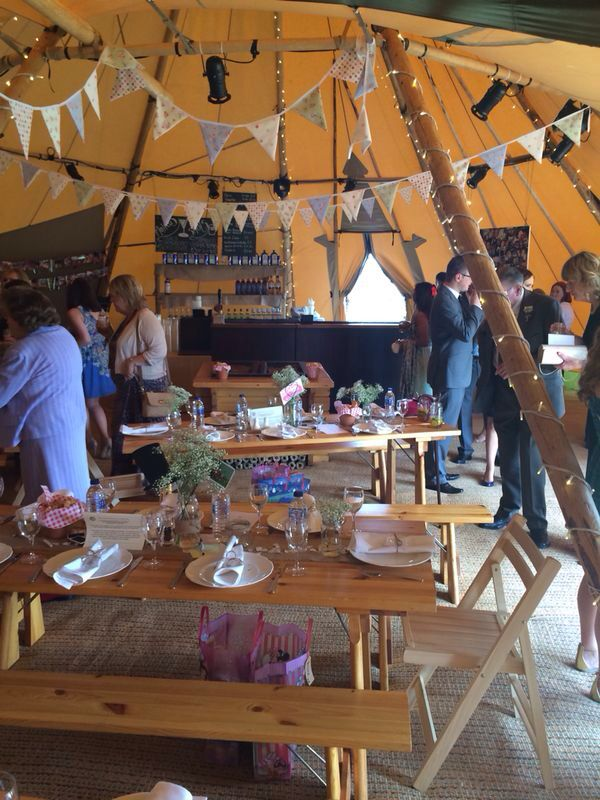 All about me Tipi. Wedding reception. Decoration. Teepee. Rustic. Field.