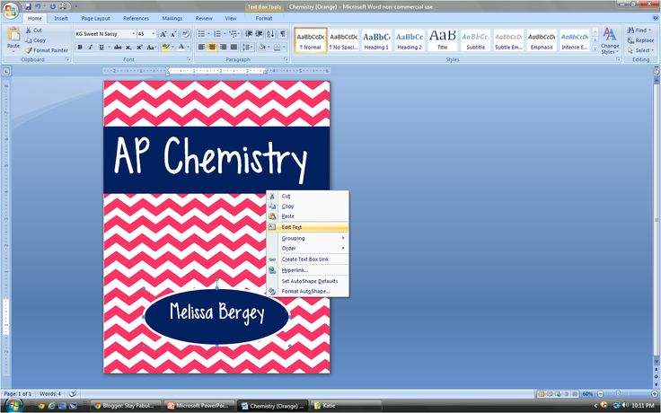 Stay Fabulous: Binder Cover Tutorial