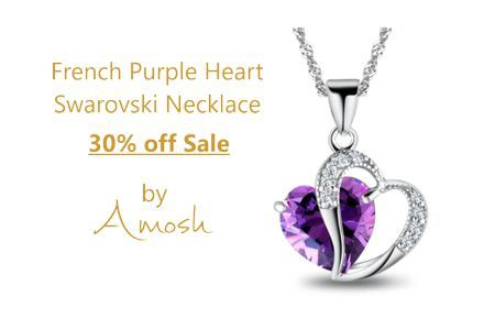 Purple Heart Swarovski Necklace Beautiful signature piece from Paris. This Purple Heart Swarovski Crystal is surrounded by a cluster of clear Swarovski Crystals.   http://amoshjewellery.com.au/?p=2620 http://amoshjewellery.com.au/shop/necklace-pendants/pendent-necklaces/purple-heart-swarovski-necklace/