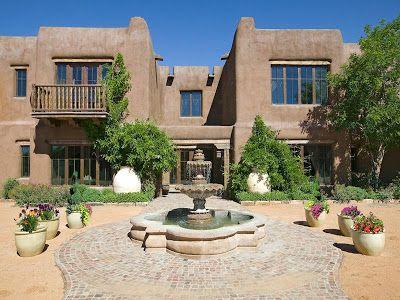 Resultado de imagen para Fachadas de casas estilo Santa Fe